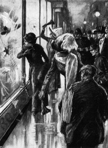 Window smashing London Illustrated News