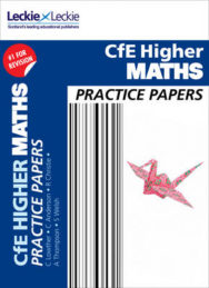CFE Higher Maths Practice Papers for SQA Exams image