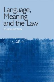 Language, Meaning and the Law image