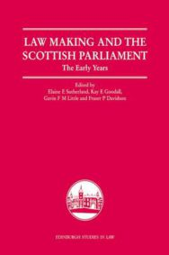 Law Making and the Scottish Parliament: The Early Years image