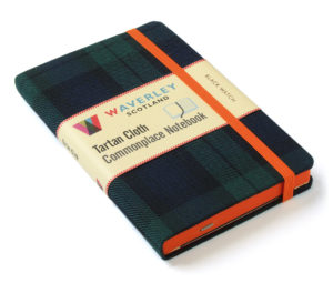 Waverey Scotland Tartan Cloth Commonplace Notebooks