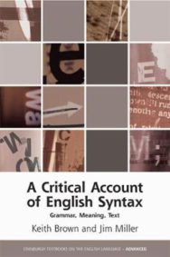 A Critical Account of English Syntax: Grammar, Meaning, Text image