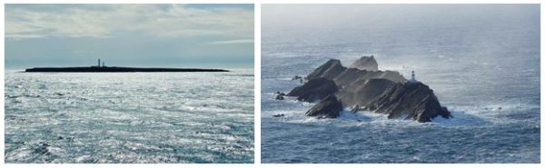 From south of Orkney to north of Shetland: Pentland Skerries (Paul A. Lynn); and Muckle Flugga (Paul Warrener)
