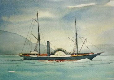 The lighthouse yacht Pharos V, in service with the Northern Lighthouse Board between 1854 and 1874