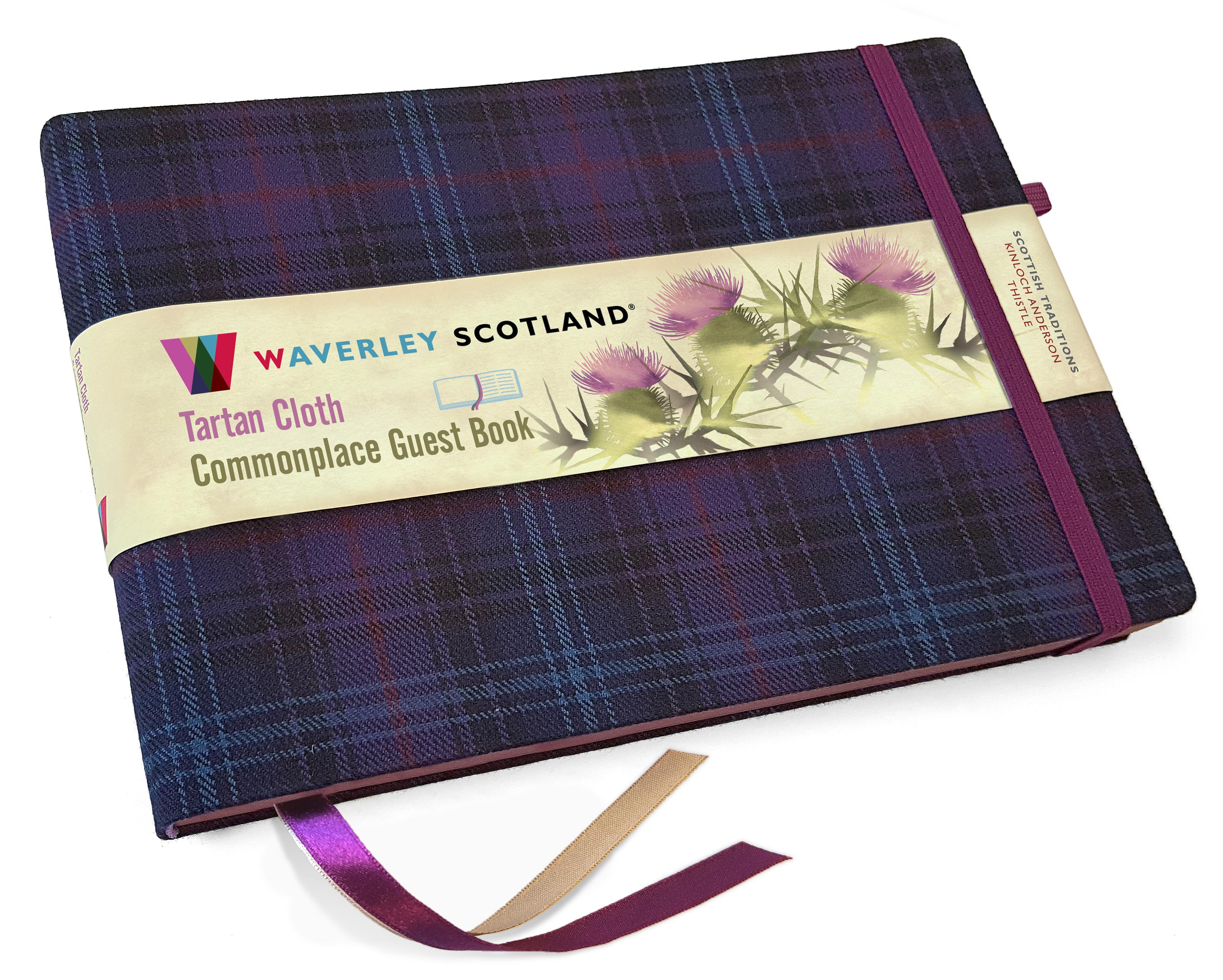 Guest Book Waverley Scotland Kinloch Anderson Thistle tartan